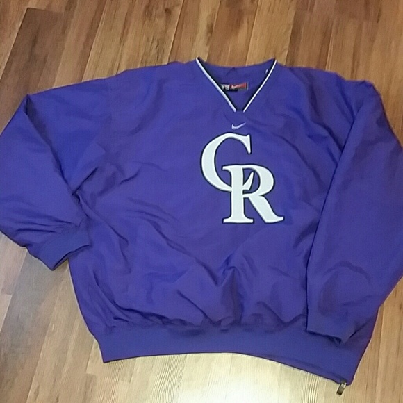 detailed look 539b2 7db9e Colorado Rockies Lined Pullover Warmup - Team Nike